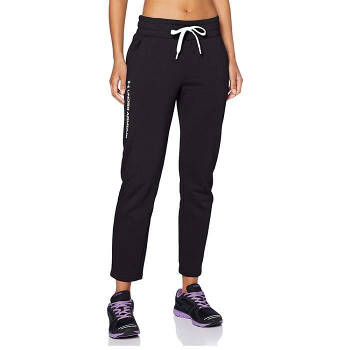 Jogging noir femme Under Armour Rival Fleece Pants