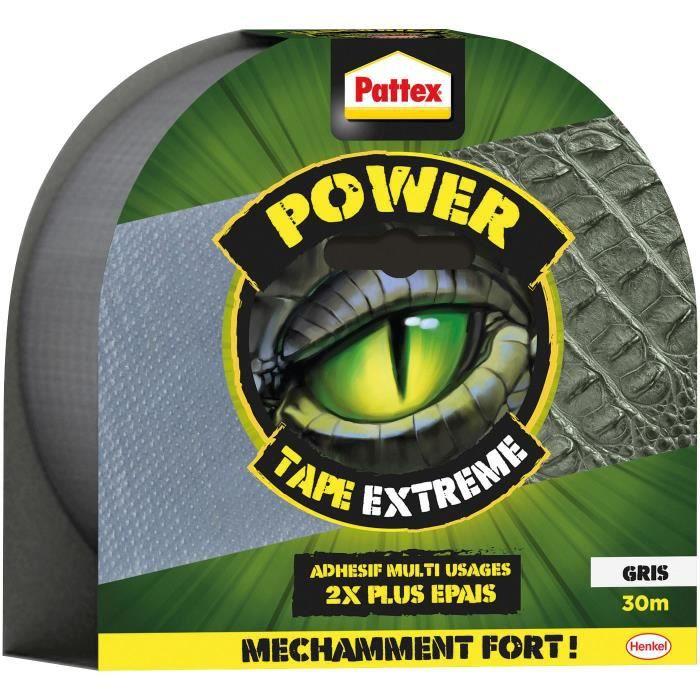 PATTEX Tape extrême Power - 30 m - Gris