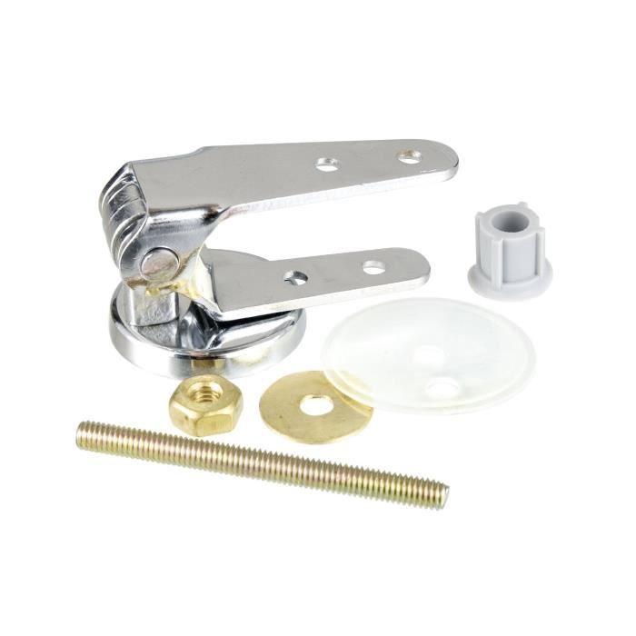 Fixation pour abattants de WC en chrome-métal