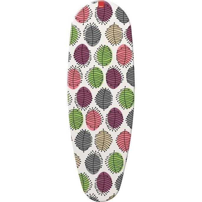 Housse table à repasser Feuilles - 130 x 43 cm - multicolore