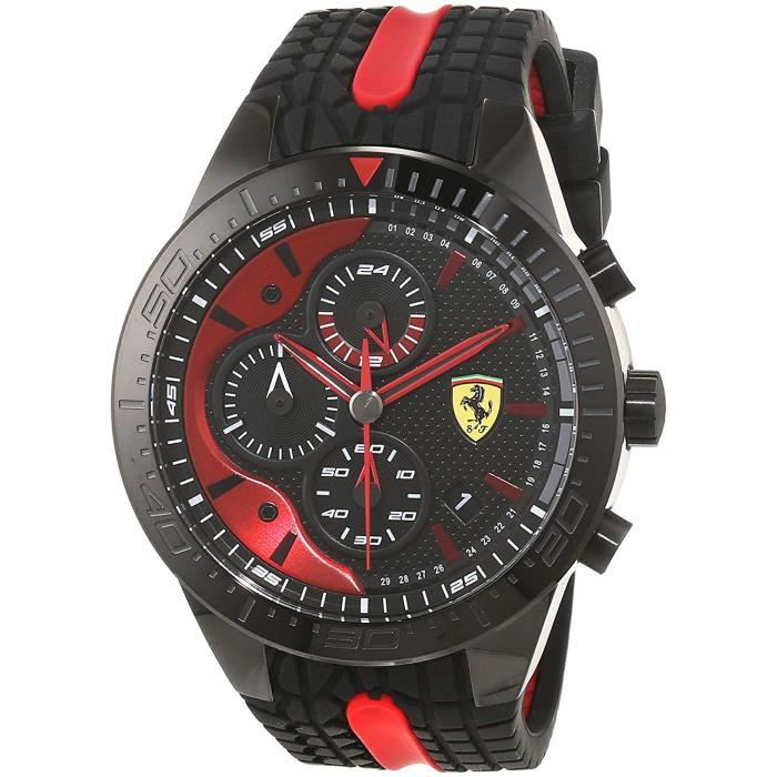 Scuderia Ferrari Hommes Chronographe Quartz Montres bracelet avec bracelet en Silicone - 830592 4797