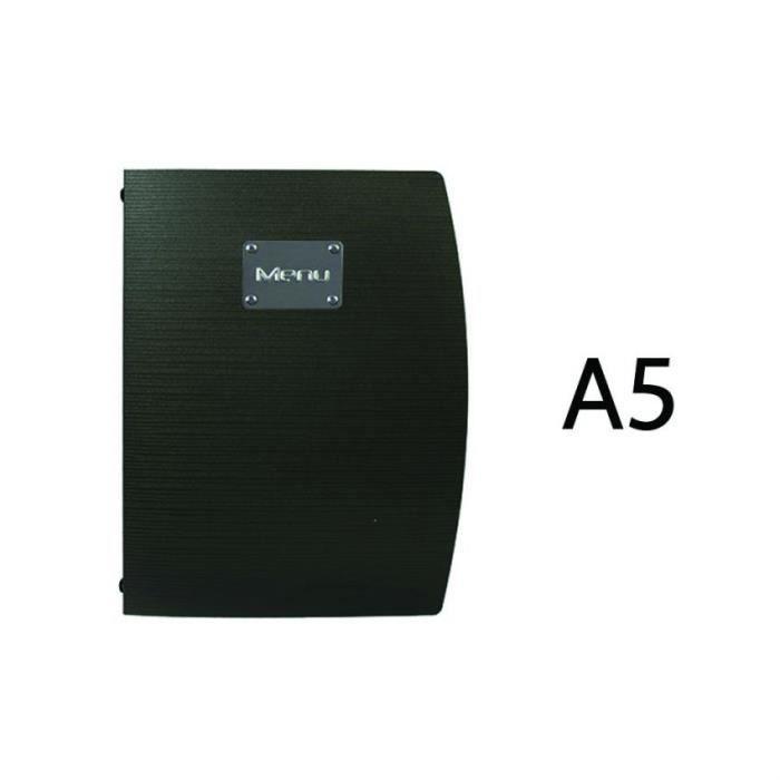 Protège menu Rio noir format A5 1,1 PVC