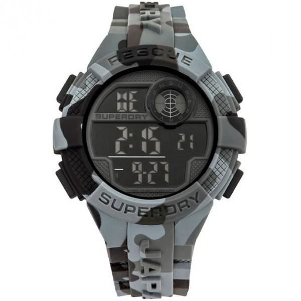 Montre Superdry Radar homme silicone gris SYG193BE 5 atm