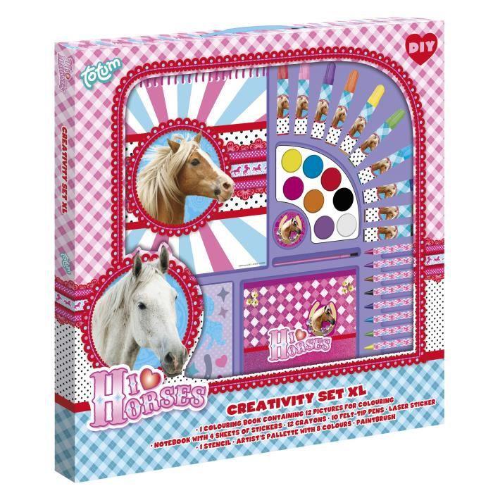 TOTUM kit créatif   I love horses Set créatif géant