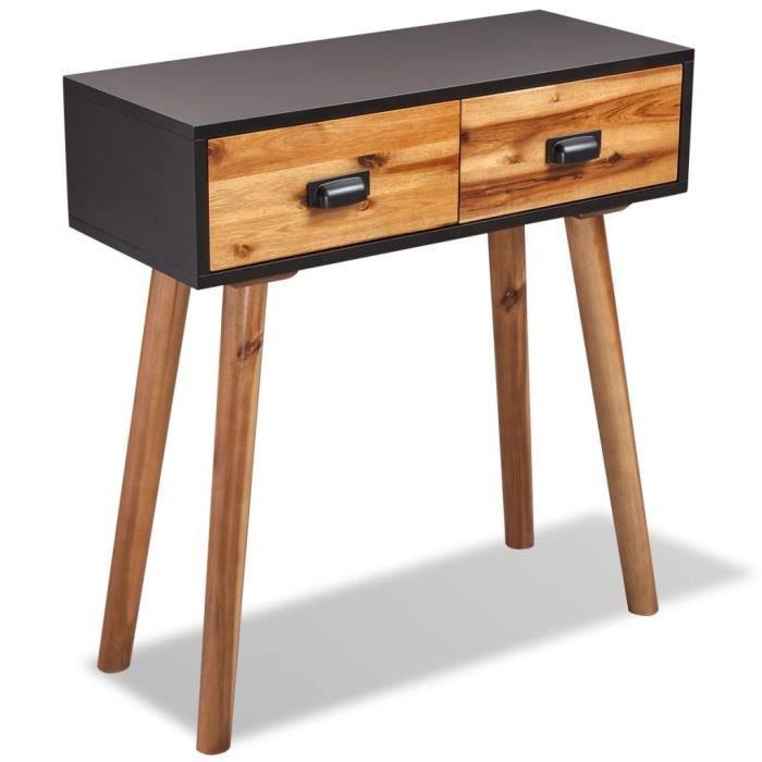 Table console Bois d'acacia massif 70 x 30 x 75 cm - Brun - Armoires et meubles de rangement - Buffets et bahuts - Brun - Brun