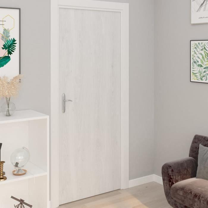 Film autoadhésif pour meubles - Bois blanc - 500x90 cm - PVC - Grains d'aspect de bois - Opaque PETI
