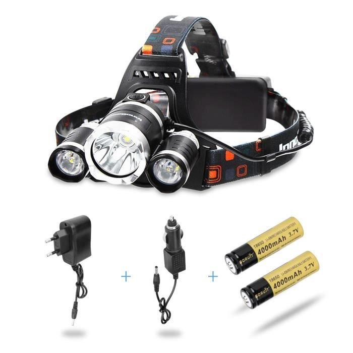 LAMPE FRONTALE MULTISPORT AFAITH 5000LM T06 LED Lampe Frontale Puissant Head