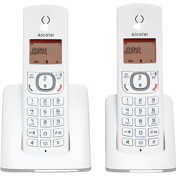 Téléphone fixe Alcatel F530 duo gris sans repondeur