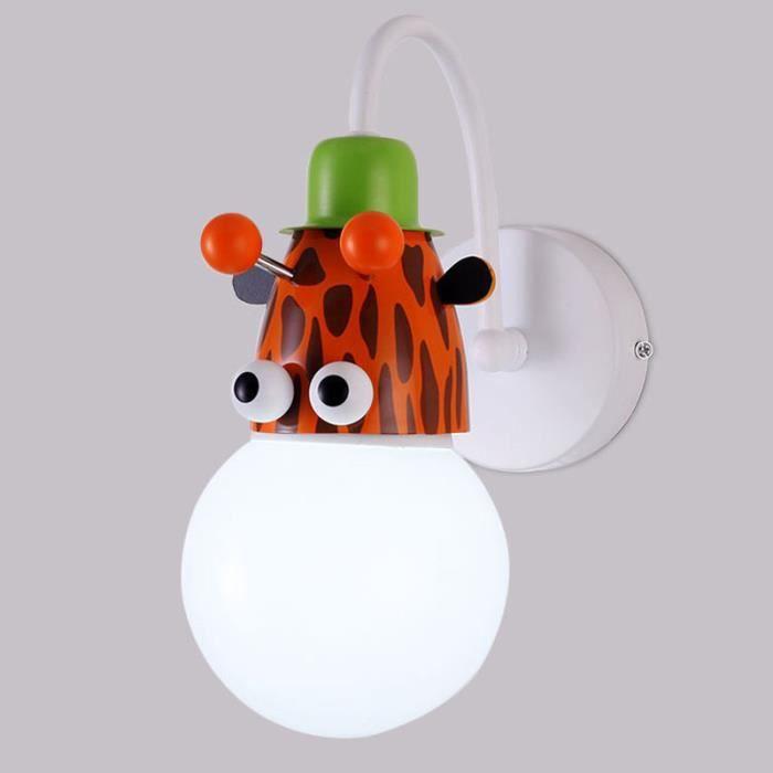 Applique Lampe Murale d'Enfant Chambre Bébé avec Animal de Cartoon - Mur de  Feu Moderne Décoration Maison - Girafe