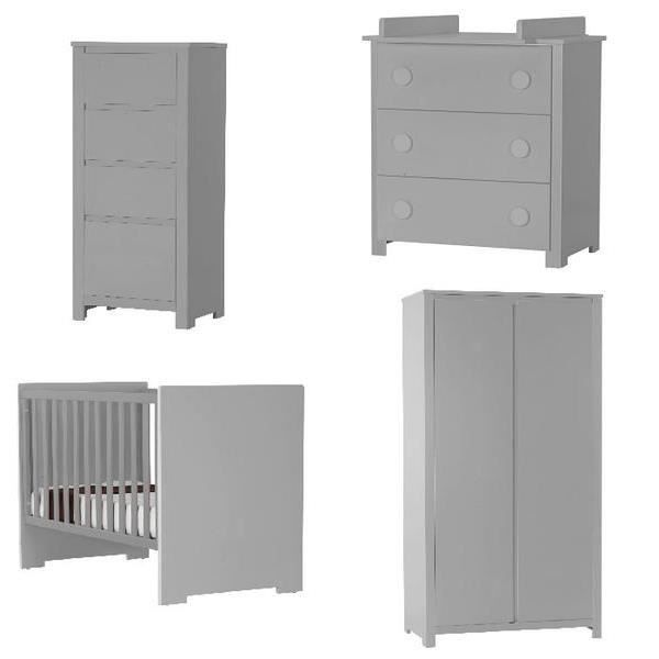 chambre b b floride compl te blanc gris alum achat. Black Bedroom Furniture Sets. Home Design Ideas