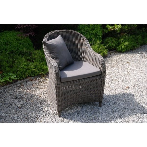 fauteuil de jardin poly en r sine tress e ronde achat vente chaise fauteuil jardin. Black Bedroom Furniture Sets. Home Design Ideas
