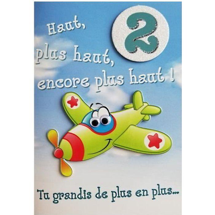 Carte De Voeux Enfant Anniversaire 2 Ans Garcon Achat Vente Carte Correspondance Carte De Voeux Anniversaire Cdiscount