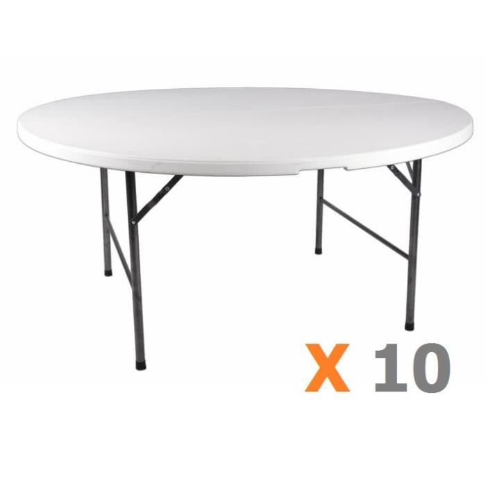 10 x table ronde 160 cm pliante achat vente table de jardin 10 x table ronde 160 cm pli. Black Bedroom Furniture Sets. Home Design Ideas