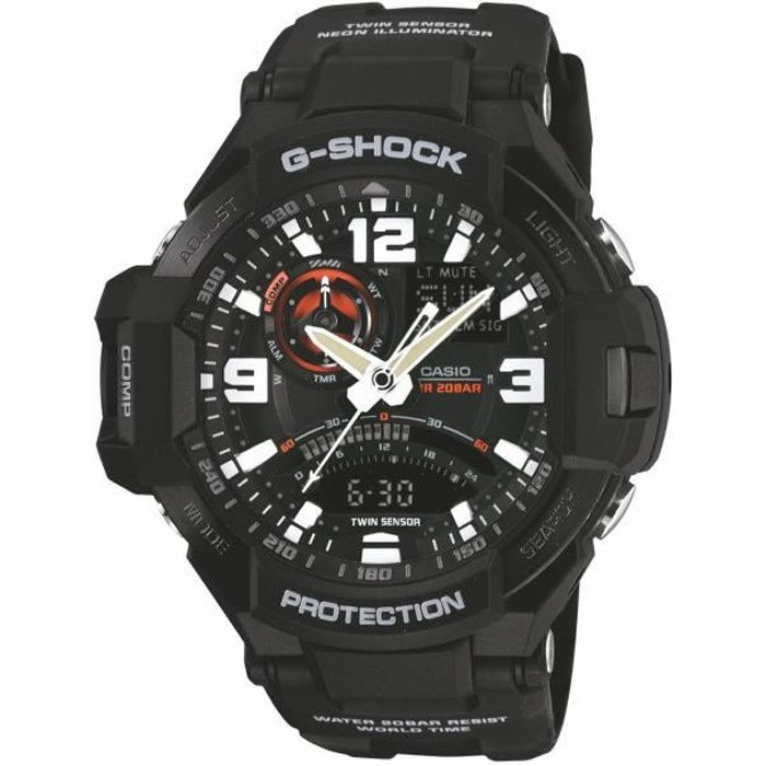 montre homme casio g shock ga 1000 1aer bracele noir achat vente montre cdiscount. Black Bedroom Furniture Sets. Home Design Ideas
