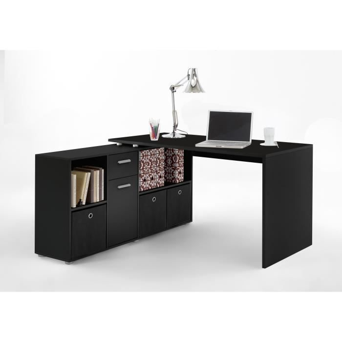 bureau d 39 angle lex noir achat vente bureau bureau d 39 angle lex noir cdiscount. Black Bedroom Furniture Sets. Home Design Ideas