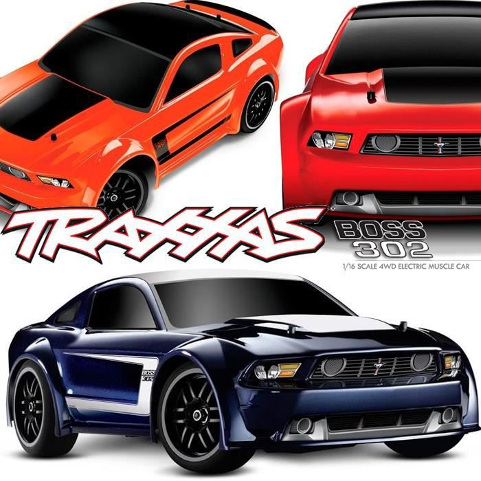 voiture radiocommand e ford mustang boss 302 4x4 rc 1 16 brushed 1 16 me lectrique. Black Bedroom Furniture Sets. Home Design Ideas