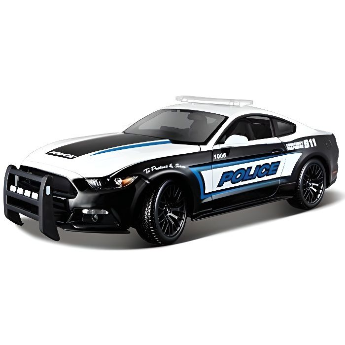 maisto 2043088 maquette de voiture ford mustang gt police echelle 1 18 achat vente. Black Bedroom Furniture Sets. Home Design Ideas