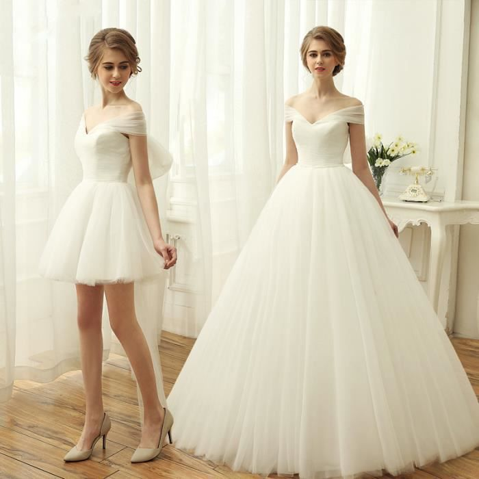 Robes de Mariée Mariage 2 en 1 Princesse
