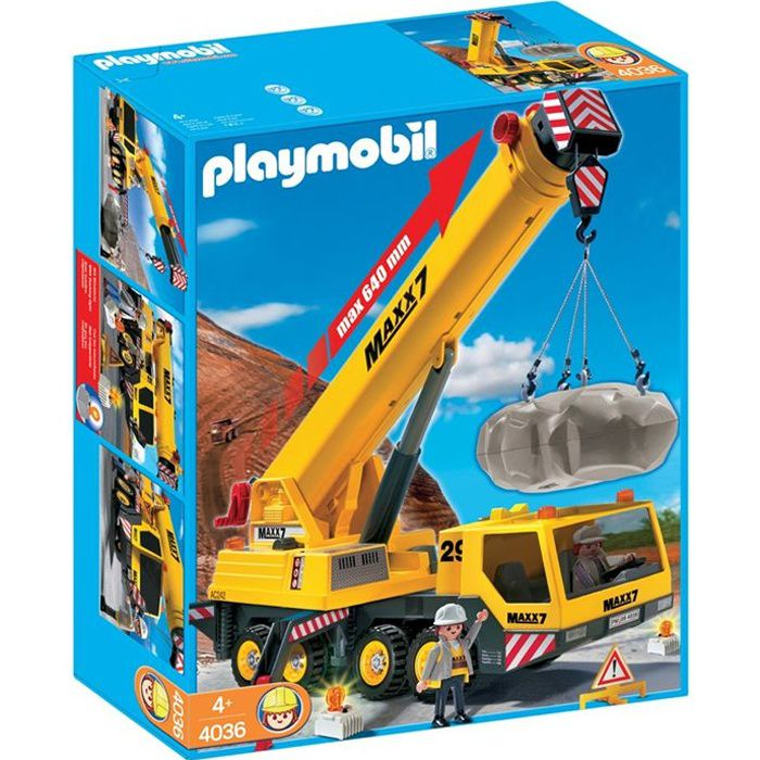 UNIVERS MINIATURE PLAYMOBIL 4036 Grue mobile géante