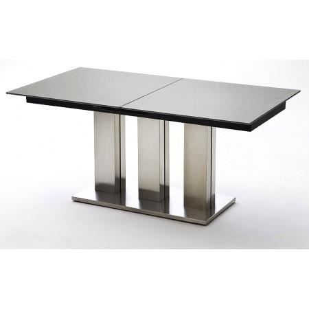 table manger extensible avec plateau en verre achat. Black Bedroom Furniture Sets. Home Design Ideas