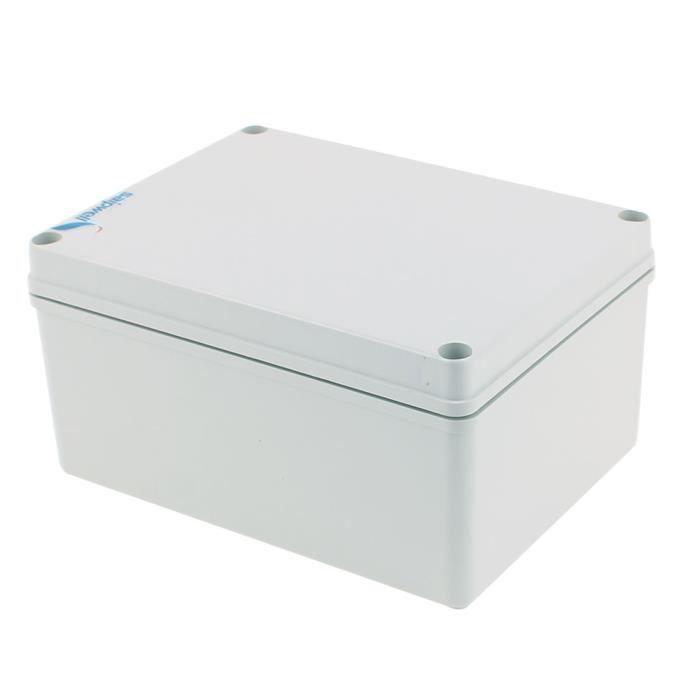 Blanc Bo/îtier de jonction en plastique /électronique 150 x 150 x 63 mm