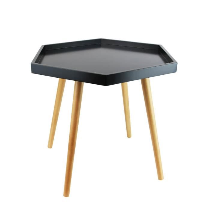 table basse noire avec plateau hexagonal achat vente table basse table basse noire avec plat. Black Bedroom Furniture Sets. Home Design Ideas