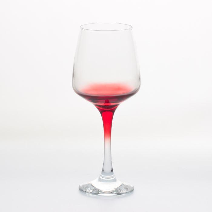Verre à eau - Soda TREND'UP - VERRE A PIED LAL 29.5 CL ROUGE (Lot …
