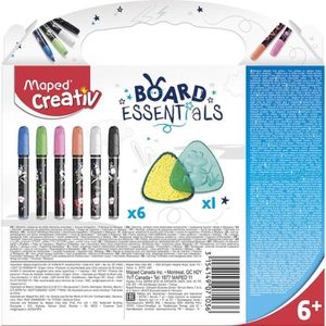 JEU DE COLORIAGE - DESSIN - POCHOIR MAPED CREATIV - Recharges Effacables Multisurface