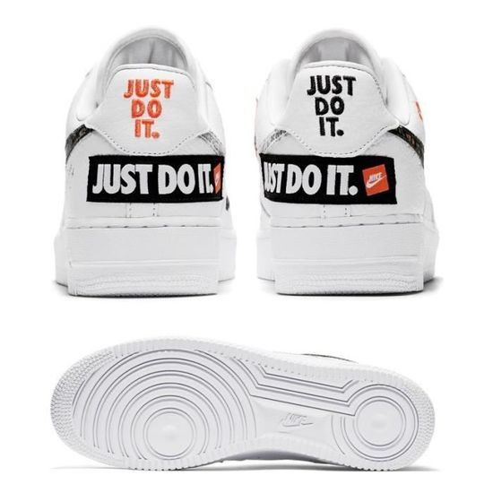 Basket Nike Air Force 1 Low Just Do It Pack White-Black - Baskets ...