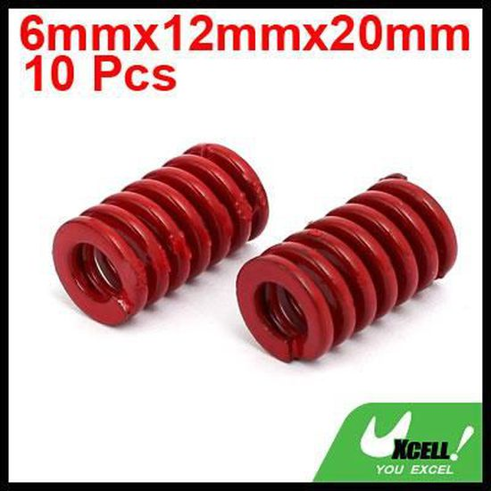 sourcing map 10mm /Ø Ext long 25mm Moule compression charge moyenne ressort matrice 10pcs