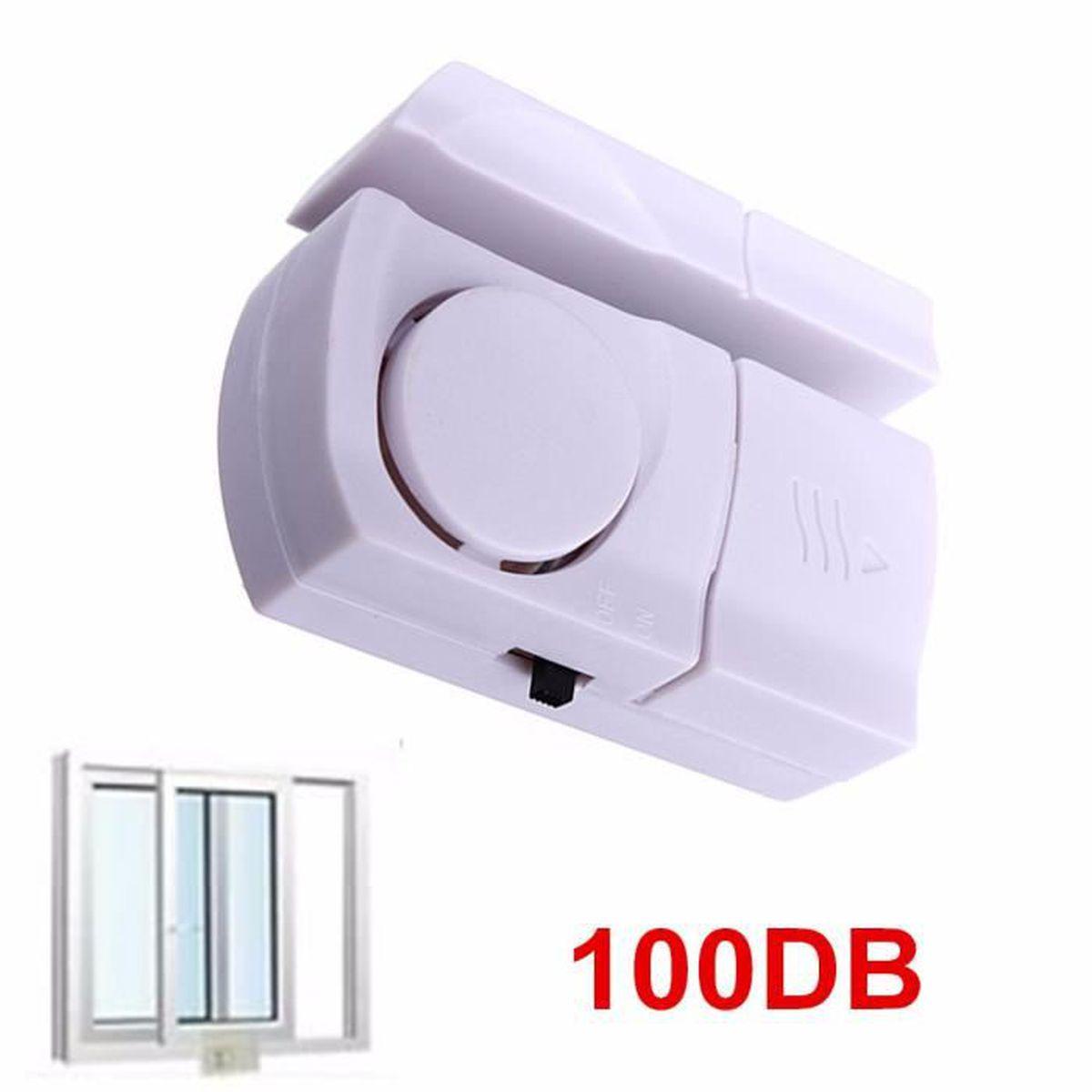 Sans fil 1//8PCS Fenêtre Porte antivol sécurité alarme système 90dB Capteur Magnétique