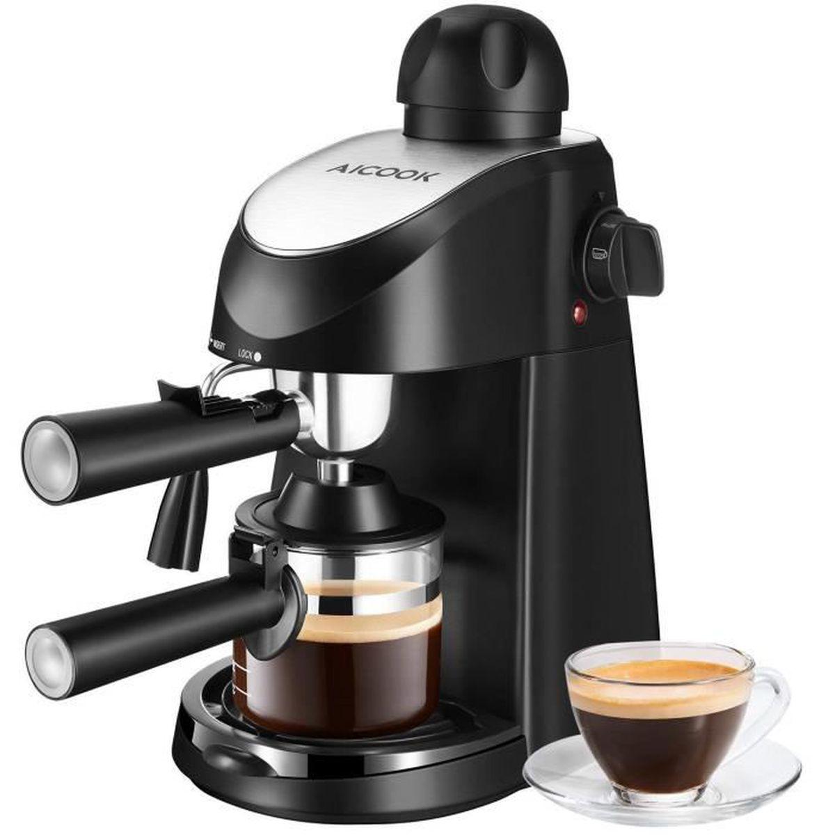 Machine à Café avec Broyeur Aicook Cafetière Cafetière Grains et...