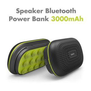ENCEINTE NOMADE Enceinte Bluetooth et Powerbank 3000mAh Black & Gr