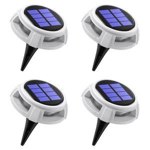SPOT D'EXTÉRIEUR  4pcs Spot solaire à LED Lumière Étanche, 4 modes d