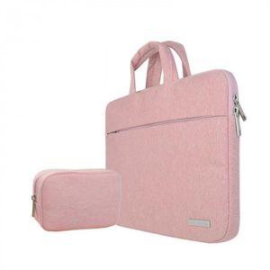 SACOCHE INFORMATIQUE Version Rose avec Petit bag - 11 inch -