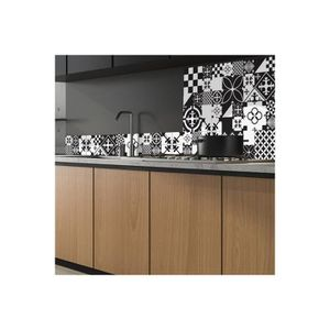CREDENCE 99DECO - Crédence Ciment Style Black and White - M