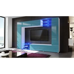 meuble tv mural achat vente meuble tv mural pas cher cdiscount. Black Bedroom Furniture Sets. Home Design Ideas