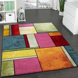 TAPIS Tapis Design à Carreaux Contour Trendy Multicolore