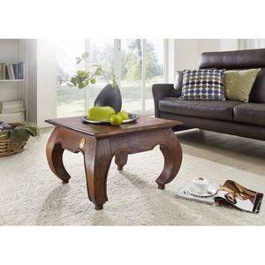 TABLE BASSE Table basse carrée 60x60cm - Bois massif d'acacia