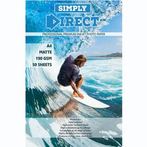 PAPIER IMPRIMANTE 50 x Simply Direct A4 Mat Papier d'impression Phot