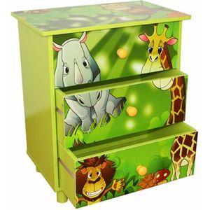 COMMODE DE CHAMBRE Commode enfants de 3 tiroirs en bois avec motif…