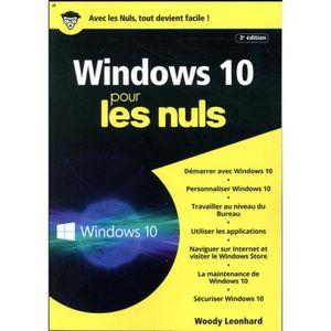 LIVRE INTERNET Livre - Windows 10 pour les nuls (3e édition)