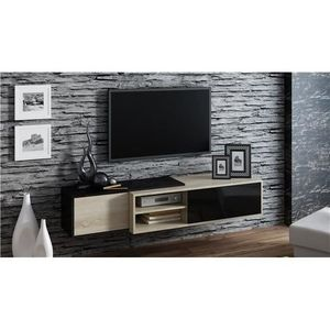 meuble tv suspendu bois achat vente meuble tv suspendu bois pas cher cdiscount. Black Bedroom Furniture Sets. Home Design Ideas
