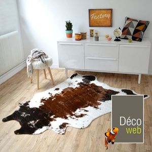tapis peau de b te imitation vache design 140 x 170 cm te achat vente tapis cdiscount. Black Bedroom Furniture Sets. Home Design Ideas
