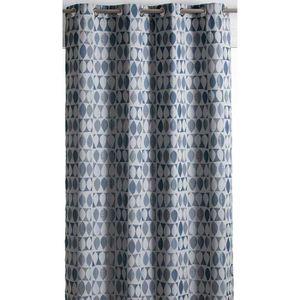 Topfinel Lot de 2 Rideau Enfant /à Motif Bleu Plan/ète Isolant Phonique Rideau Occultant Thermique /à Oeillets pour Salon Chambre 117x137cm Plan/ète