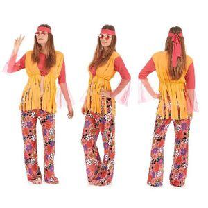 Ensemble de vêtements Costume Deguisement Hippie Femme - Fete - Hallowee