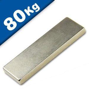 AIMANTS - MAGNETS Aimant rectangulaire Bloc magnétique - 60 x 20 x 5