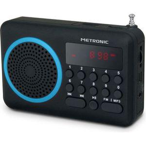RADIO CD CASSETTE MET 477203 Radio portable FM Bleu