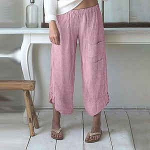 PANTALON Femmes Plus Size Stripe Pocket Pantalon large coto
