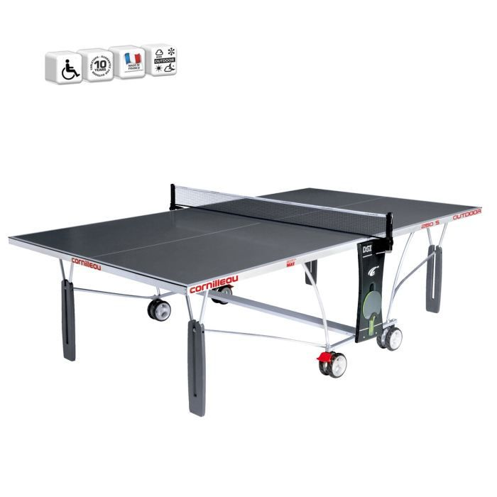 Cornilleau table de ping pong sport 250 s outdoor prix pas cher cdiscount - Table ping pong cornilleau outdoor ...